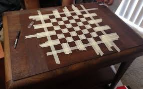 Chess Table How To Make A Custom Chess Board From An Old Wooden Table For