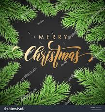 merry christmas holiday golden hand drawn stock vector 764012641