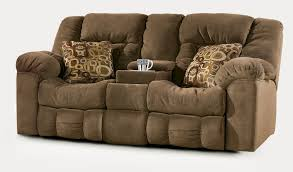 modern power reclining sofa with drop down table made of faux