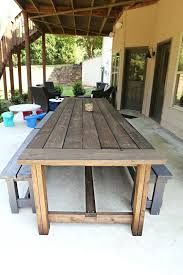 wood patio table plans luxury diy outdoor furniture plans and outdoor bench plans garden
