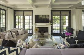 French Door Photos - french doors flanking fireplace design ideas