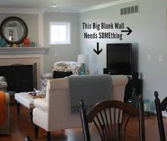 Decorating Indecision And My Big Blank Walls Hooked On Houses - Family room walls