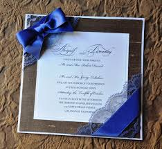 wedding invitations with ribbon blue lace with ribbon wedding invitation uniquely yours wedding