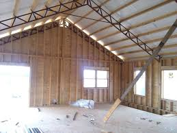 residential using pole barn metal truss system pole barn garages
