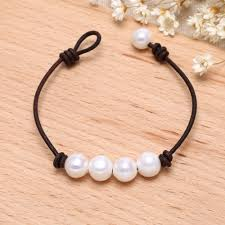simple pearl bracelet images Aobei pearl handmade bracelet made of freshwater pearl and jpg