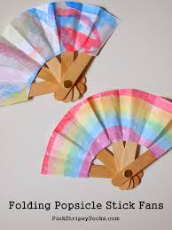 how to make a fan make a folding popsicle stick fan pink stripey socks