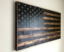 gorgeous inspiration wooden american flag wall rustic wood