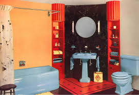 40 retro blue bathroom tile ideas and pictures stylish fixtures