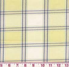 plaid home decor fabric yellow blue white woven plaid home decor fabric clan lemonade bty ebay