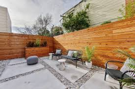 Redwood Planter Boxes by San Francisco Horizontal Wood Fence Landscape Contemporary With