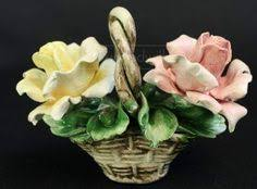 capodimonte basket of roses capodimonte italy handmade vintage floral basket twist handle