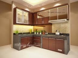Kitchen Set Minimalis Untuk Dapur Kecil Desain Dapur Cokelat Mungil Kaca Home Pinterest Interiors