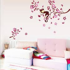 online get cheap plastic smoking monkey aliexpress alibaba pink monkey wall stickers new removable pvc declas for kids room