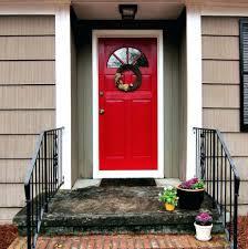 Front Entry Stairs Design Ideas Interior Exterior Design Ideas White Iron Porch Rail Including