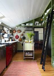 kitchen island on casters kitchens farmhouse kitchen with green wall shelves and tiny