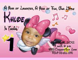 minnie mouse personalized birthday invitations 47 on card