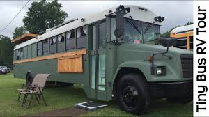 spectacular tour of tiny house bus rv conversion camper