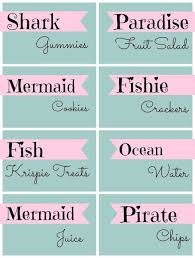 23 free mermaid party printables mandy u0027s party printables