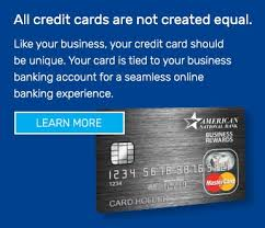 Rewards Business Credit Cards Personal Credit Cards American National Bank