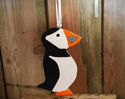 puffin ornaments etsy
