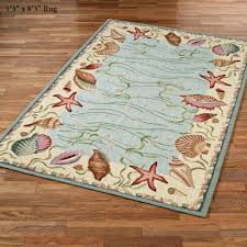 Rugs Home Decor by Ocean Surprise Coastal Seashell Area Rugs