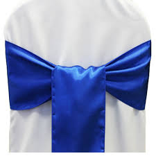 royal blue chair sashes 25pcs new royal blue satin chair sashes bows 15cmx275cm wedding
