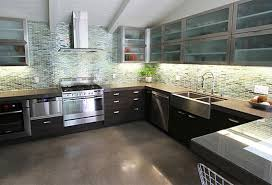 good white countertops with gloosy maroon latest kitchen cabinet