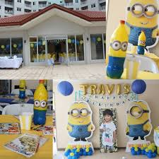 minions centerpieces me and my ventures travis and his minion themed party