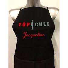 tablier de cuisine personnalisé photo top chef tablier cuisine brodé personnalisé prenom a definir