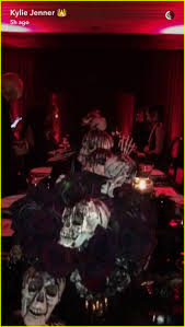 dinner party music kylie jenner u0026 tyga dress as the u0027dead u0027 for halloween dinner party