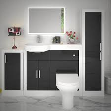 Bathroom Fitted Furniture Apollo Bathroom Fitted Furniture Set Black Buy At Bathroom City