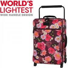 lightest cabin bag yves print 0588b 2 wheels cabin suitcase luggage uk shop