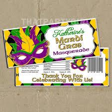 mardi gras candy 12 mardi gras masquerade party candy bar wrappers