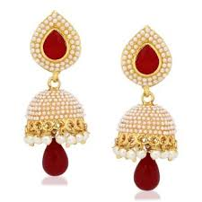 jhumka earring meenaz kundan pearl jhumka earrings traditional ethnic gold plated