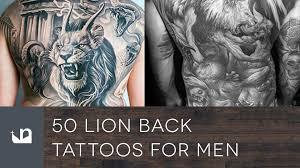 50 lion back tattoos for men youtube