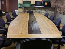 Boat Shaped Boardroom Table Reclaimed Boat Shaped Conference Table 3