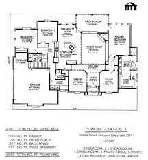3 bed room 2 story floor plans 2347 0811 one bedroom house excerpt