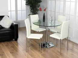 Round Glass Dining Table Set Round Dining Room Sets For 4 Home Design Ideas And Pictures