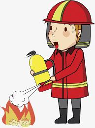 hand painted fireman cartoon hand watercolor png image free