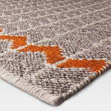 Flat Weave Cotton Area Rugs Flatweave Chevron Area Rug Gray Orange Mudhut Target