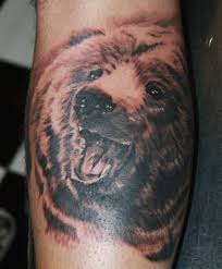 grizzly bear tattoo art and designs page 7