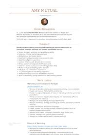 Sales And Marketing Manager Resume Examples by Marketing U0026 Communications Manager Resume Samples Visualcv