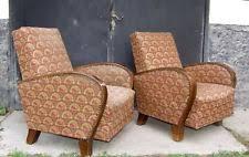 Art Deco Armchairs Walnut Art Deco Antique Chairs 1900 1950 Ebay
