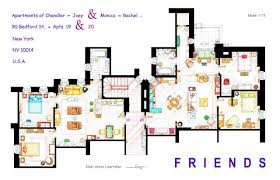 Plan Apartment by Artist Draws Beautiful Floor Plans Of Famous Tv Show Homes Today Com