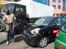 nissan micra crash test driver in new town articulated truck crash arrested ghheadlines