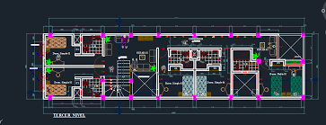 hotel floor plan dwg small hotel with restaurant 2d dwg design section for autocad