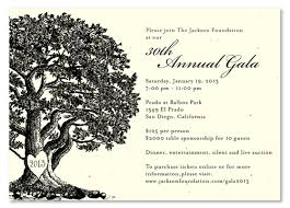 gala invitations on plantable paper vieux oak tree fundraising