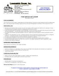 restaurant server resume resume template 2017