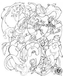 coloring download adventure time characters coloring pages