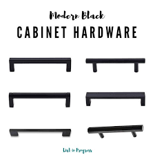 what is the best quality cabinet hardware 6 modern black cabinet pulls list in progress